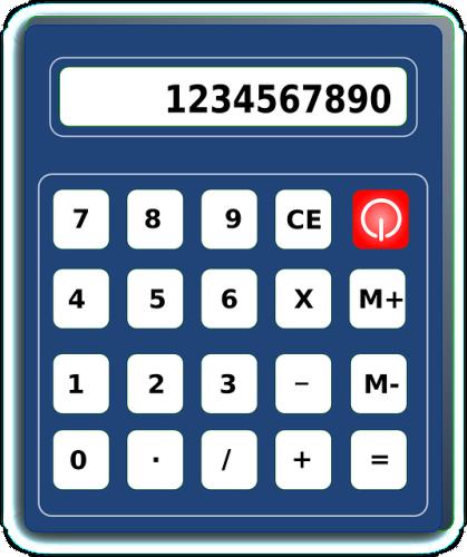 1234567890と表示された電卓