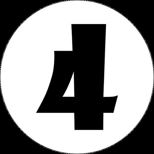 数字の4(黒)