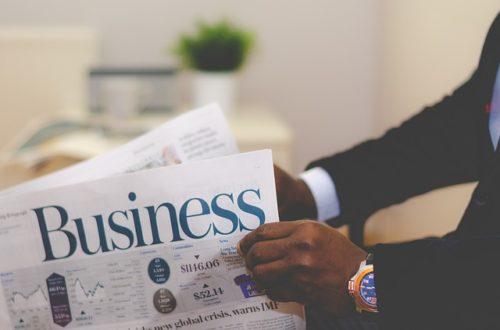 ビジネス新聞を読む