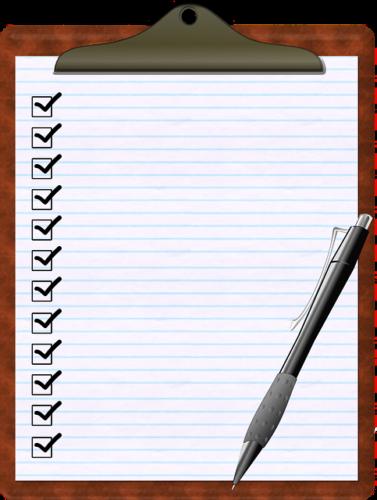 調査のためのチェックリスト
