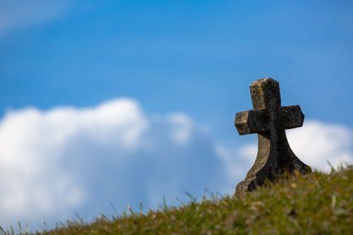 草原の中にある墓