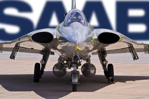 SAABの飛行機