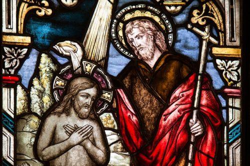 洗礼のステンドグラス