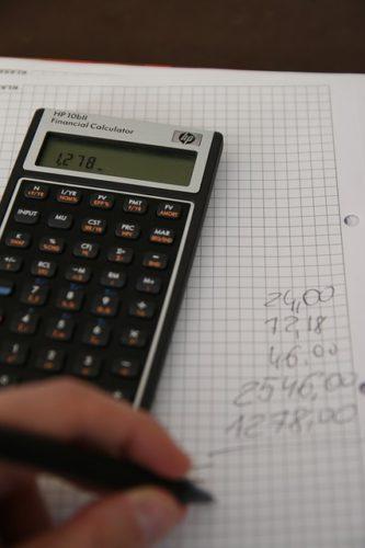電卓と手計算