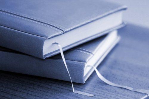 しおり紐が見える本2冊