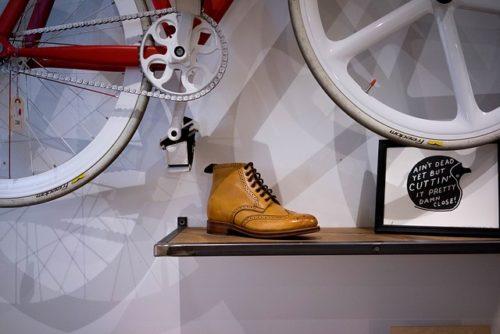 靴と自転車